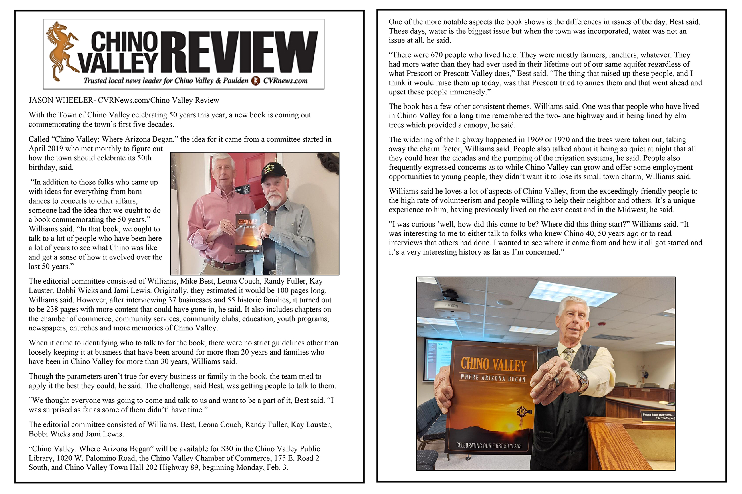 Chino Valley Review 50th Anniversary Article